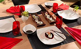 Utensílios para comida japonesa
